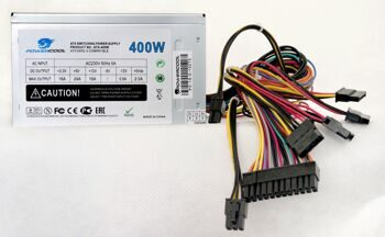 Блок питания ATX 400W PowerCool 80mm (SCP)\(OVP)\(OCP)\(UVP)\24+4\ 20+4 pin, ATX 12V v.2.3 OEM