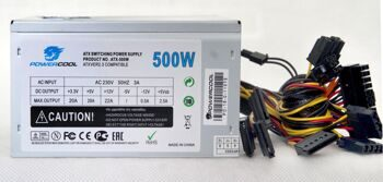 Блок питания ATX 500W PowerCool 120mm (SCP)\(OVP)\(OCP)\(UVP)\24+8\+4 20+4 pin, ATX 12V v.2.3 OEM